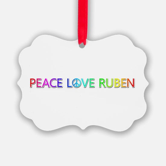 Peace Love Ruben Ornament