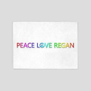 Peace Love Regan 5'x7' Area Rug
