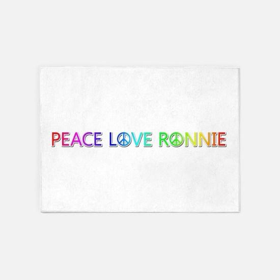 Peace Love Ronnie 5'x7' Area Rug