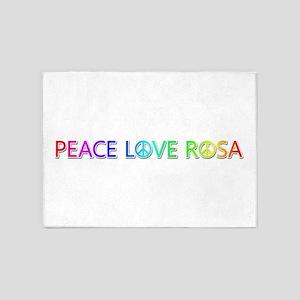 Peace Love Rosa 5'x7' Area Rug