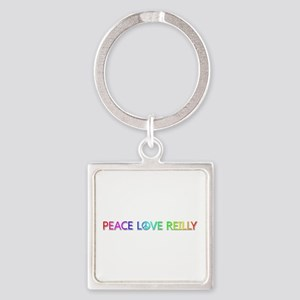 Peace Love Reilly Square Keychain