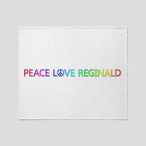 Peace Love Reginald Throw Blanket