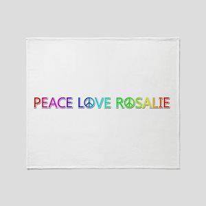 Peace Love Rosalie Throw Blanket