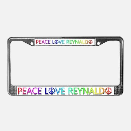Peace Love Reynaldo License Plate Frame