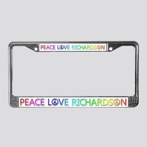 Peace Love Richardson License Plate Frame