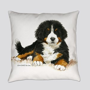 Bernese Mountain Dog Puppy.com Everyday Pillow