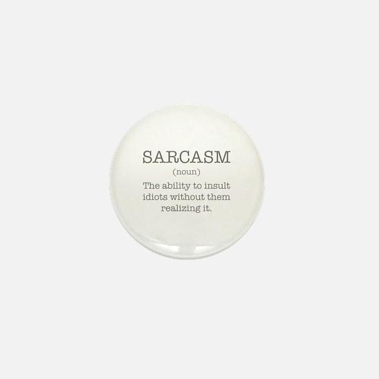 Sarcasm Noun Mini Button