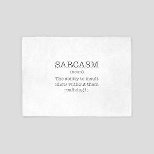 Sarcasm Noun 5'x7'Area Rug