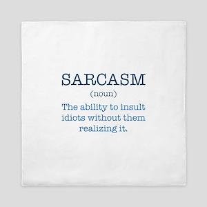 Sarcasm Noun Queen Duvet