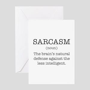 Sarcasm Noun Greeting Card