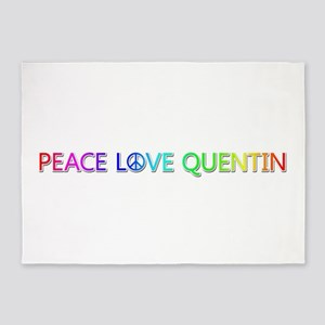 Peace Love Quentin 5'x7' Area Rug