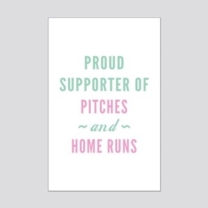 Pitches And Home Runs Mini Poster Print