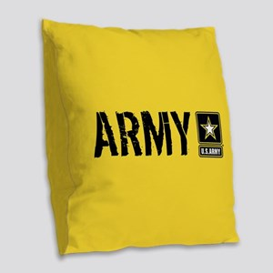 U.S. Army: Army (Gold) Burlap Throw Pillow