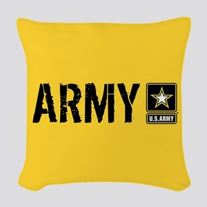 U.S. Army: Army (Gold) Woven Throw Pillow