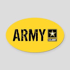 U.S. Army: Army (Gold) Oval Car Magnet