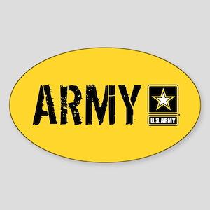 U.S. Army: Army (Gold) Sticker (Oval)