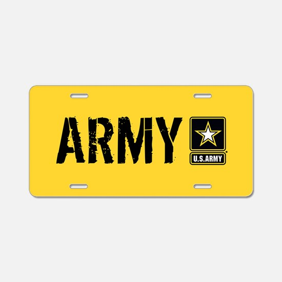 U.S. Army: Army (Gold) Aluminum License Plate