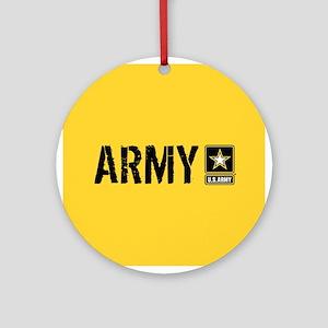 U.S. Army: Army (Gold) Round Ornament