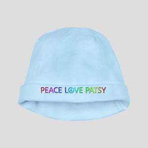 Peace Love Patsy baby hat