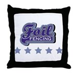 Foil Fencing Throw Pillow