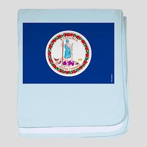 Virginia State Flag baby blanket