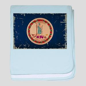 Virginia State Flag VINTAGE baby blanket