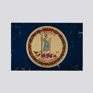 Virginia State Flag VINTAGE Rectangle Magnet