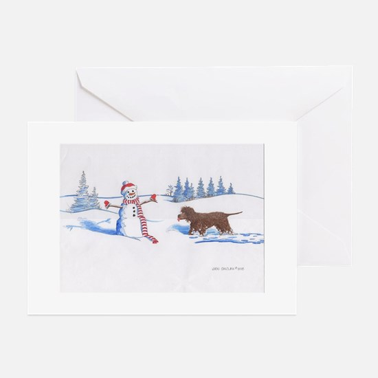 Unique Portuguese water dog christmas Greeting Cards (Pk of 10)