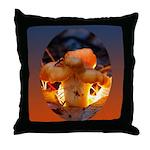 Backlit Mushroom Throw Pillow