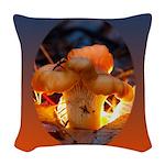 Backlit Mushroom Woven Throw Pillow