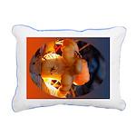 Backlit Mushroom Rectangular Canvas Pillow