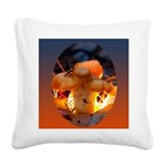 Backlit Mushroom Square Canvas Pillow