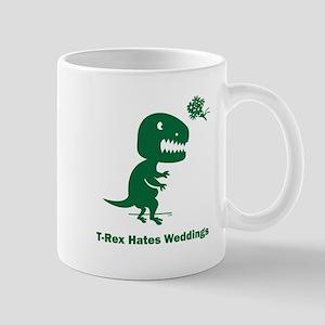 T-Rex Hates Weddings Mug