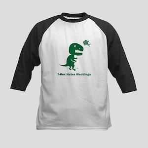 T-Rex Hates Weddings Kids Baseball Jersey