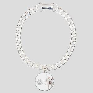 Bull Terrier Charm Bracelet, One Charm