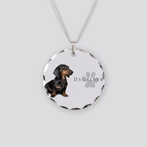 Dachshund Necklace Circle Charm