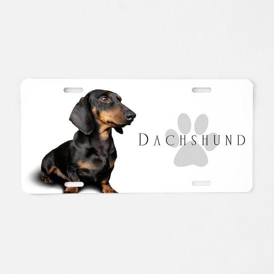 Dachshund Aluminum License Plate