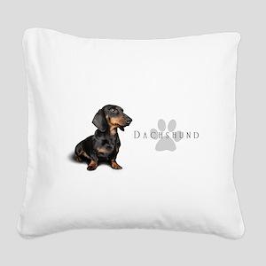 Dachshund Square Canvas Pillow