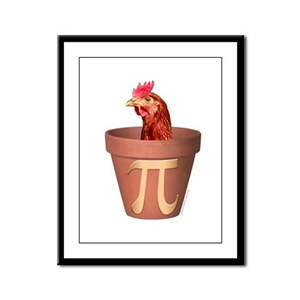 Chicken Pot Pi Framed Panel Print