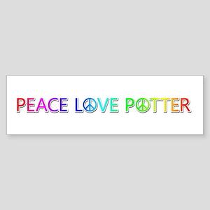 Peace Love Potter Bumper Sticker