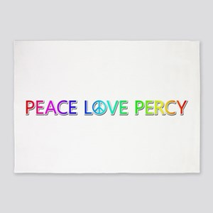 Peace Love Percy 5'x7' Area Rug