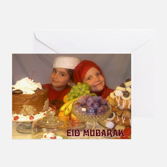 Kid's Eid Mubarak 1 Greeting Cards (Pk of 20)