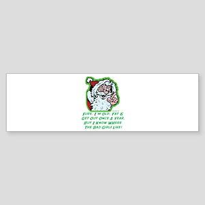 Old Santa Bumper Sticker