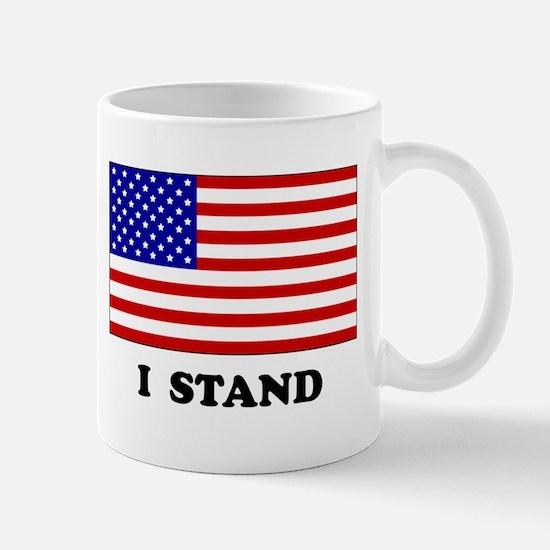 US Flag I Stand Mugs