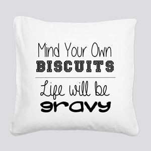 mind your own Square Canvas Pillow