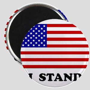 US Flag I Stand Magnets