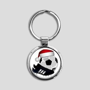 Christmas Soccer Keychains