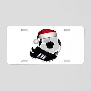 Christmas Soccer Aluminum License Plate
