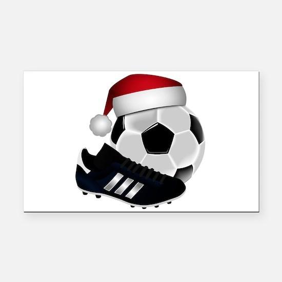 Christmas Soccer Rectangle Car Magnet
