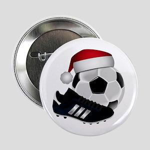 "Christmas Soccer 2.25"" Button"